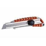 Fémházas Uni kés csavarós, gumi bevonatos, 18mm