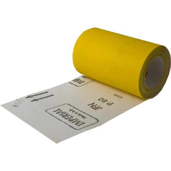 Csiszolópapír tekercsben sárga P180, 115mm 5m